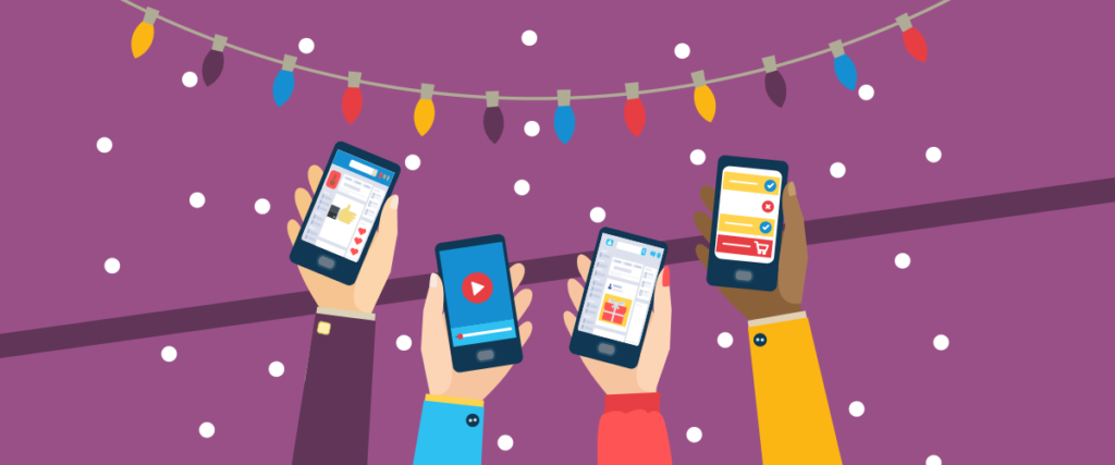 social media tips for holiday shopping