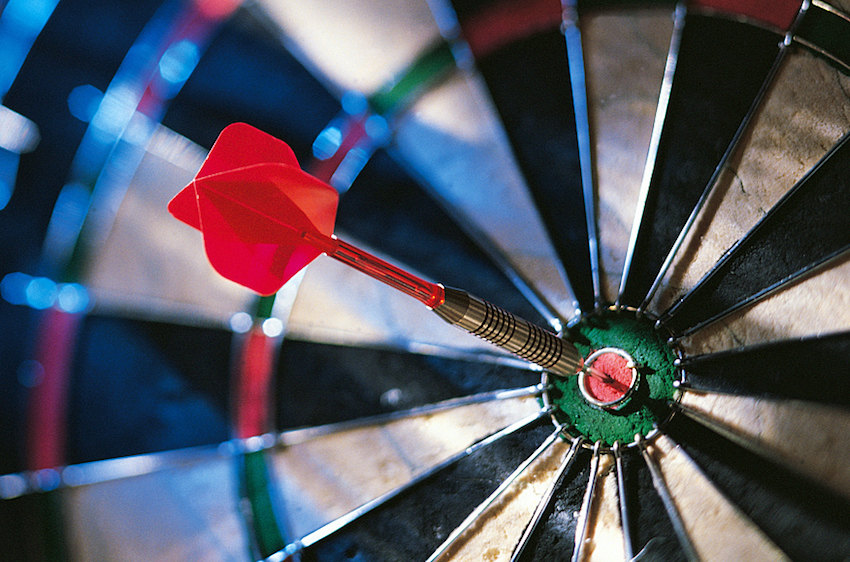set your goal with a bullseye
